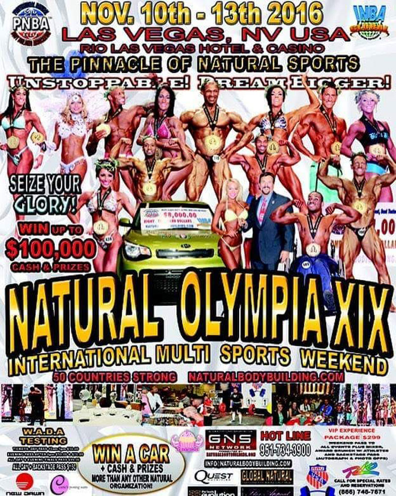 10.-13.11.2016 – XIX Natural Olympia, Las Vegas, Nevada USA