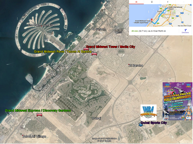 Location map dubai sport city